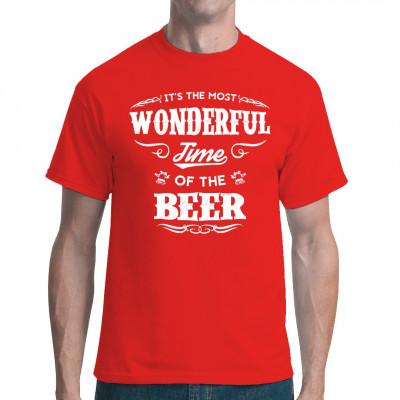Bier Trinker Spruch für dein T-Shirt, Sweatshirt oder V-Neck: It's the most wonderful time of the BEER!