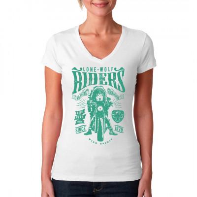 Biker Shirt Motiv mit Wolfsgesicht