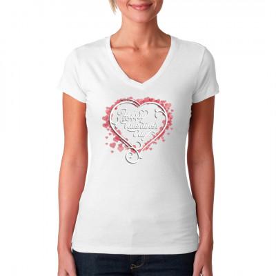 Romantisches Shirt Motiv mit Herz für dein T-Shirt, Sweatshirt oder V-Neck. In vielen Farben und Größen erhältlich.