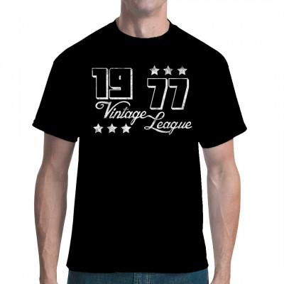 Jahrgang 1977 Vintage League Fun Geburtstags Shirt