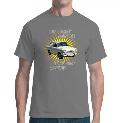Der Trabbi ist die Pappe gewordene Ostalgie, der absolute DDR Kult. Hol ihn dir für dein T-Shirt, Sweatshirt oder V-Neck!  Mittels Digital-Direktdruck aufgebracht. waschfest