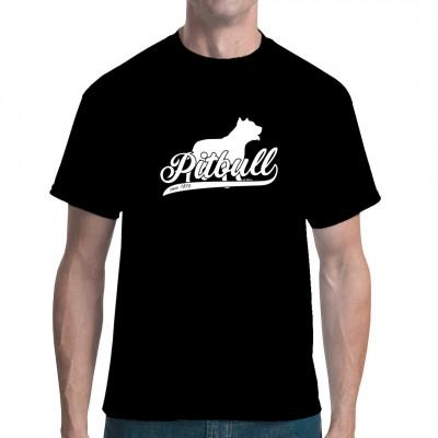 Rassehund Pitbull als Druck für dein Shirt. In vielen verschiedenen Größen und Farben verfügbar.