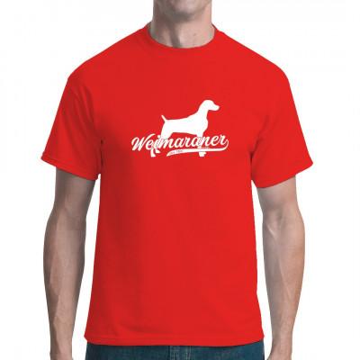 Silhouette eines Weimaraners als hochwertiger Druck für dein Shirt. Das ideale Geschenk für Hundezüchter und Tierfreunde
