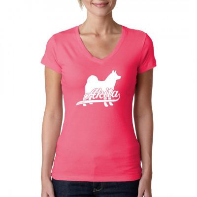 Shirt Motiv: Rassehund Akita Gib diesem treuen Tier einen Platz über Deinem Herzen und trage es als hochwertigen Druck auf Deinem T-Shirt, Sweatshirt oder V-Neck