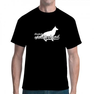 Deutscher Schäferhund als waschfester Digital-Direktdruck für Ihr Shirt in Ihrer Wunschfarbe.