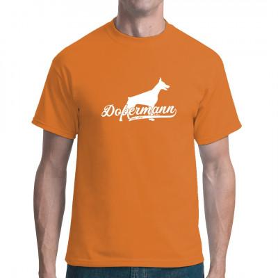 Rassehund Dobermann als hochwertiger Druck für dein Textil. Egal ob T-Shirt, Sweatshirt, V-Neck oder Tasche, wir drucken Ihren Lieblingshund.
