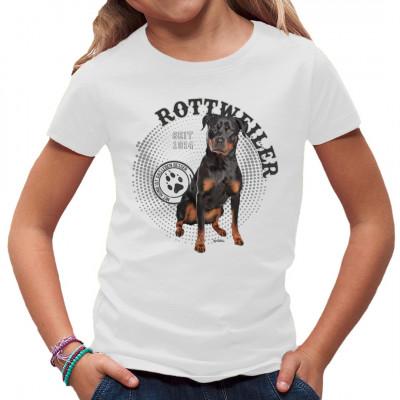 Mit Hund ist das Leben besser! Hunde T-Shirt Motiv: Rottweiler Foto Spots