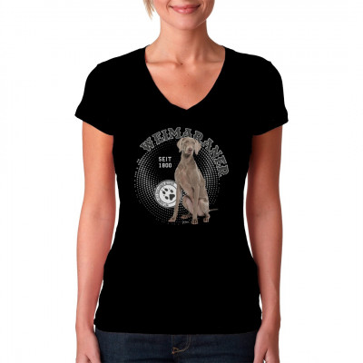 Hunde T-Shirt Motiv: Weimaraner Hol Dir noch heute dieses tolle Hunde Motiv für dein T-Shirt, Sweatshirt oder V-Neck, denn mit Hund ist das Leben besser.
