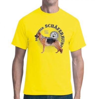 Hunde T-Shirt Motiv: Deutscher Schäferhund Foto Punkte Hol Dir noch heute dieses tolle Hunde Motiv für dein T-Shirt, Sweatshirt oder V-Neck, denn mit Hund ist das Leben besser.