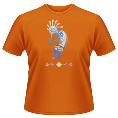 T-Shirt Motiv: Kokopelli  Indianer Felszeichnung der Gottheit Kokopelli, das Symbol für Fruchtbarkeit.