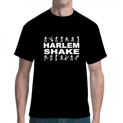 Eigenartige Musik und wildes, unkontrolliertes Rumgezappel in komischer Verkleidung? Das kann doch nur ein Harlem Shake Video sein. Hol dir jetzt das passende Shirt zum Hype.