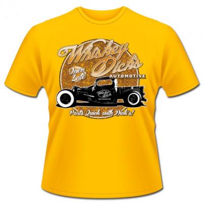 Heißes Hot Rod - Motiv: Bei Whiskey Dick kommt ihr am schnellsten an eure Autoteile.  Ideal für alle Fans amerianischer Oldtimer und Tuner.