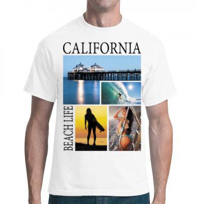 california beach life t shirt selbst gestalten drucken im. Black Bedroom Furniture Sets. Home Design Ideas