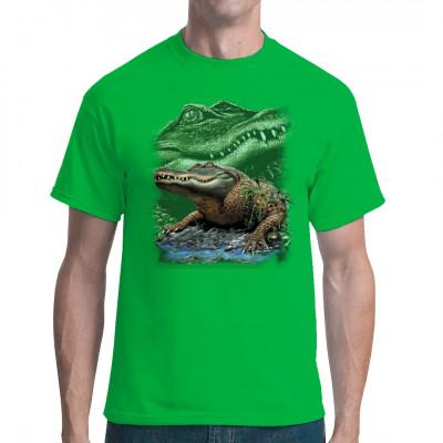 Du kannst Dir keine Krokodilledertasche leisten? Auch egal, lass Dir dieses tolle Motiv auf einen Jutebeutel drucken. Aligatordruckjutebeutel schlagen Krokodilledertaschen eh um Längen.