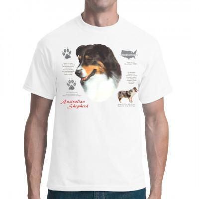 Der Australian Shepherd ist, anders als der Name vermuten lässt, eine Hunderasse aus den USA. Er ist ein Hütehund mittlerer Größe und hat gegebenenfalls eine angeborene Stummelrute.