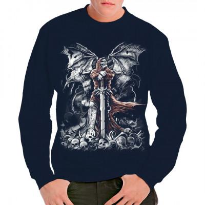 Gothic Motiv - Gravestone Reaper, Sonstige, X - XXL Motive, Männer & Frauen, Totenköpfe & Gothic, Biker, Totenköpfe, Biker