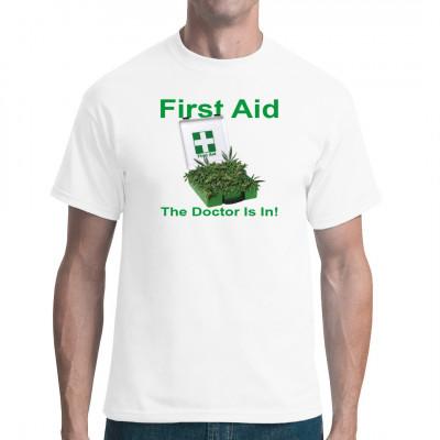 Motiv: First Aid  Das Erstehilfekästchen für Kiffer, bestehend aus.... GRAS!