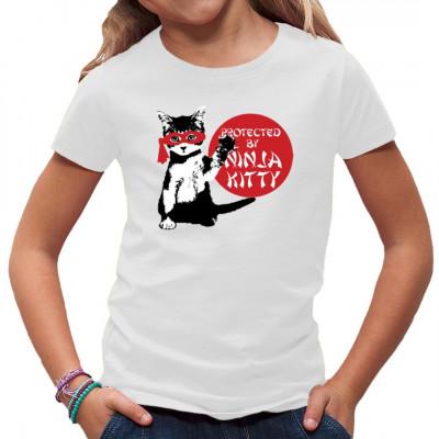 T-Shirt Motive: Ninja Kitty  Niedliche Ninja- Katze mit Maske. Das perfekte Motiv für Katzenbesitzer und Liebhaber.