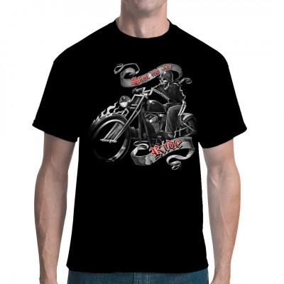 Cooles Motorrad-Motiv: Hog Heaven So stellt sich ein echter Biker doch den Himmel vor: Rauf auf den Bock, einen alten Wehrmachtshelm auf die Rübe und einfach nur noch fahren. Keine Tempolimits, keine gesperrten Pisten, keine Pannen,...