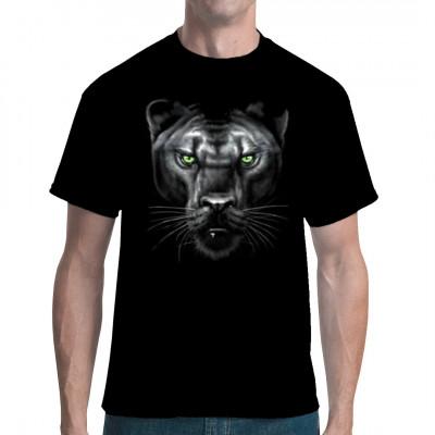 T-Shirt - Motiv: Majestic Panther; Ein majestätischer Panther, frisch aus dem Dschungel. Garantiert ohne Dschungelcamp-Bewohner.