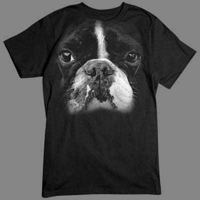 Übergroßes T-Shirt - Motiv für Hunde - Fans: Boston Terrier Für alle Naturfreunde kommt hier der absolute Knaller: Oversize-Motive, die sich über das gesamte Shirt erstrecken. Diese Motive gehen nahtlos in die Farbe des Textils über und sind deshalb nur
