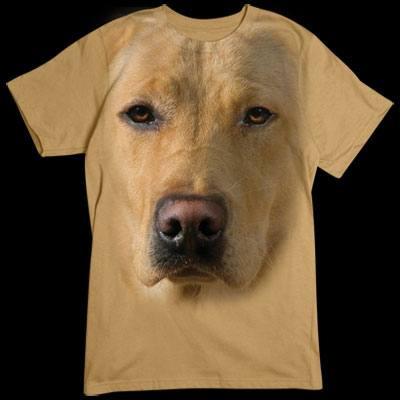 Übergroßes T-Shirt - Motiv für Hunde - Fans: Blonder Labrador Retriever Für alle Naturfreunde kommt hier der absolute Knaller: Oversize-Motive, die sich über das gesamte Shirt erstrecken.