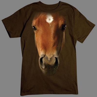 T-Shirt - Motiv: Pferd Das passende Motiv für Pferdenarren und alle, die ab und zu ein langes Gesicht machen wollen.