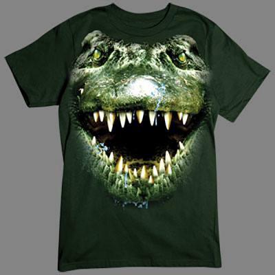 """T-Shirt - Motiv: Alligator Frisch aus den Sümpfen von Florida kommt dieses bissige Monster. Nenn dieses Krokodil bloß nicht """"Handtasche""""!"""