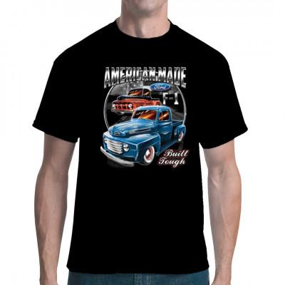 Wenn Ford einen Pick Up entwerfen, was liegt näher als das Ding auseinander zu nehmen und in einen Hot Rod zu verwandeln, mit dem man jedes Straßenrennen gewinnen kann? Cooles Hot Rod Motiv für alle Fans amerikanischer Autos