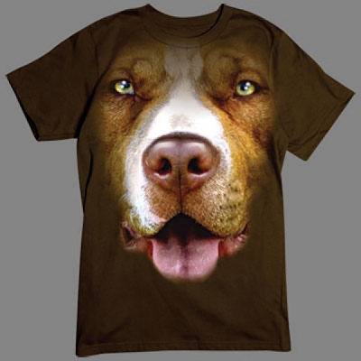 T-Shirt - Motiv: Pitbull Vorsicht vor dem Hund!