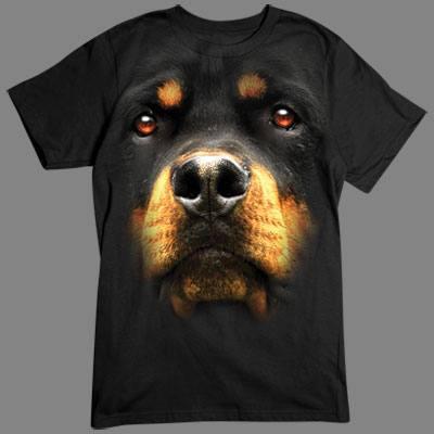 T-Shirt - Motiv: Rottweiler Tolles übergroßes Motiv für alle Hundefans. Hol Dir diesen deutschen Rassehund für dein T-Shirt.