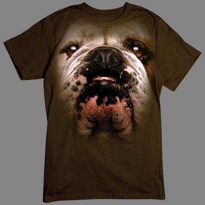 T-Shirt - Motiv: Bulldog Tolles übergroßes Motiv für alle Hundefans. Hol Dir diesen Rassehund für dein T-Shirt.