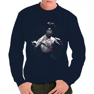 Dieses coole Motiv stellt seine Szene aus dem wohl berühmtesten Film von Bruce Lee dar: Der Mann mit der Todeskralle, auch bekannt als Enter The Dragon. Dieses Shirt ist ein absolutes must-have für alle Fans von alten Hong Kong Kung Fu Filmen.