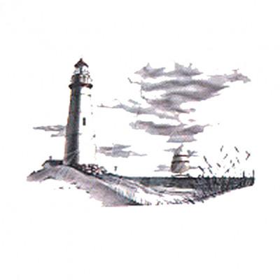 Meeres Landschaft mit Leuchtturm Stillleben  - Oversize, M - Maritim, N - Natur, MOTIVE P - Z, U - Umwelt, X - XXL Motive, Y - Yachting, ALLE MOTIVE, Tiere & Natur, Männer & Frauen, MARITIM