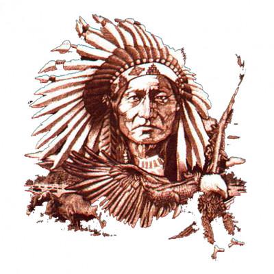 Indianer Häuptling mit Adler - Oversize , E - Ethno, Sonstige, I - Indians, America, Haustiere, X - XXL Motive, ALLE MOTIVE, Tiere & Natur, Männer & Frauen, Country/Western/Indians, ADLER / VÖGEL