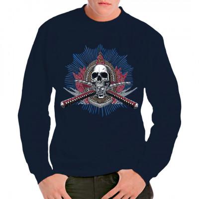 Totenkopf mit gekreuzten Schwertern Oversize Shirt, Sonstige, Totenköpfe & Gothic, Totenköpfe, Sonstiges