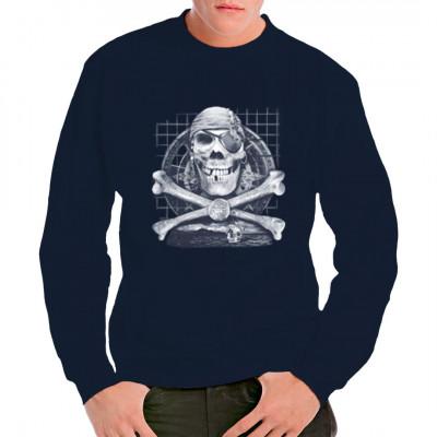 Motiv: Pirate Skull Cooler Piraten-Schädel. Das perfekte Motiv für alle Freibeuter unter euch. Motivgröße: ca. 35x25cm