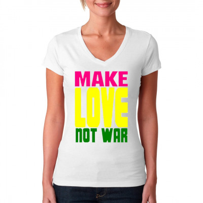 Motiv: Make Love Not War  Macht Liebe, keinen Krieg. Klasse Spruch für dein Shirt.