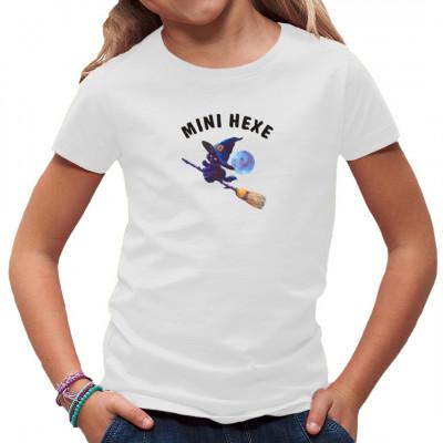 T-Shirt - Motiv : Mini Hexe Kindermotiv  Mittels Transfer Siebdruckverfahren aufgebracht. waschfest