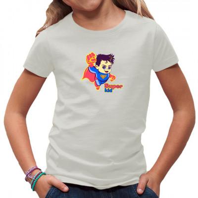 Comic - Kind im Superman - Kostüm. Tolles Kinder - Motiv für kleine Superhelden.
