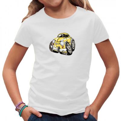 Comic - Auto als Karikatur eines alten Cinquecento. Witziges Shirt-Motiv für Kids und Auto-Fans
