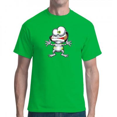 T-Shirt Motiv: Crazy Frog  Der Crazy Frog ist zurück und jetzt auch ohne Sparabo verfügbar. Hol dir den verrückten Frosch für dein Shirt. Ring-ding-ding-dooooong