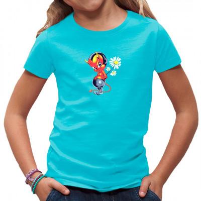Was hat dieser kleine pummelige Teufel bloß mit der Margerite vor? Die Antwort findest Du vielleicht auf diesem witzigen Kids Shirt.