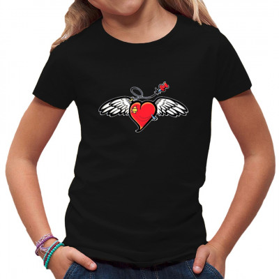 Heart Wings - Geflügeltes Herz Comic Motiv, K - Kids, Baby, Tattoo Style, Kinder, Fashion / Mode, Ladys, Tattoos, Graffiti, Street Art