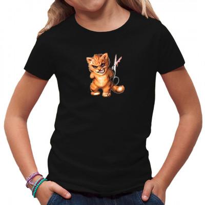 Witziges Fun-Motiv mit Comic Katze