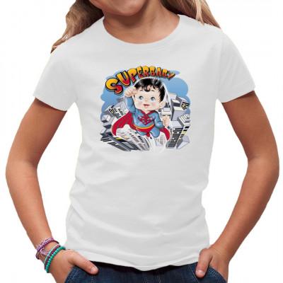 T-Shirt Motiv: Superbaby  Der Kleine Supermann. Das perfekte Motiv für kleine Superhelden Fans.