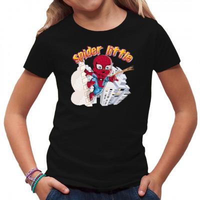 T-Shirt Motiv: Spider little  Kleiner Superheld. Das perfekte Motiv für kleine Comic Fans.