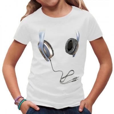 Motiv: Kopfhörer   Zeigt das euch Musik was bedeutet. Stylische Headphones, cooles Shirt-Motiv.