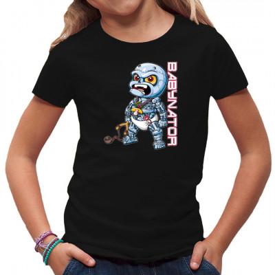 Lustiges Comic - Motiv mit einem Terminator Baby