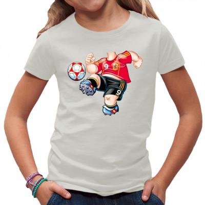 Shirt Motiv: Fußball Spieler Körper   Fußballer Fun Shirt ideal für Kinder und auf jeden Fall ein Hinkucker. Zeig den Leuten was dein Hobby ist.